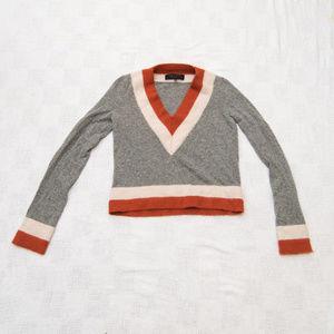 Rag & Bone Angora Blend V Neck Sweater